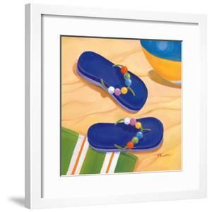Purple Flip Flops by Paul Brent
