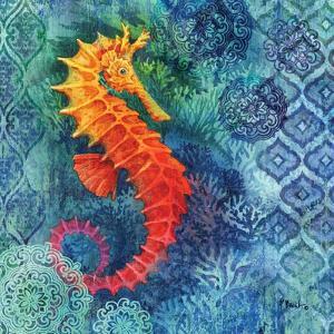 Seahorse Batik Sq by Paul Brent