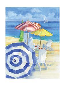 Watercolor Beach Vertical by Paul Brent