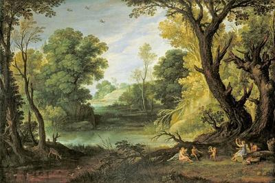 Landscape with Nymphs and Satyrs, 1623