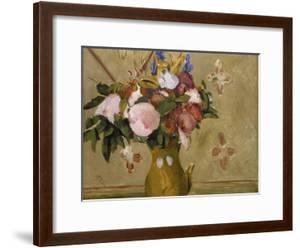 Flowers in a Vase, C. 1886 by Paul C?zanne