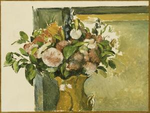 Flowers in a Vase by Paul C?zanne