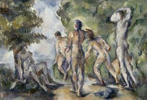 Les baigneurs by Paul C?zanne