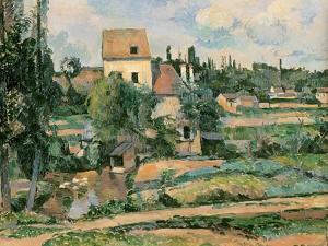 Moulin De La Couleuvre at Pontoise, 1881 by Paul C?zanne