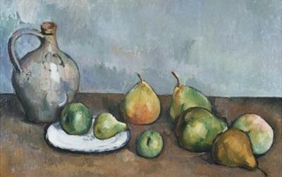 Pitcher and Fruit by Paul C?zanne