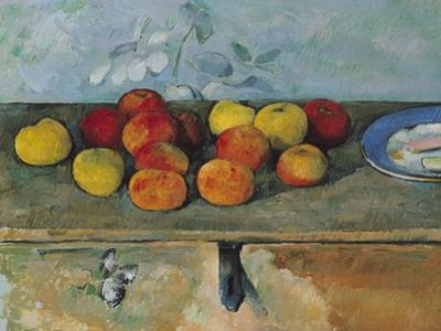 Still Life of Apples and Biscuits, 1880-82 by Paul C?zanne