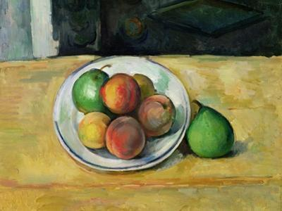 Still Life with a Peach and Two Green Pears, C. 1883-87 by Paul C?zanne
