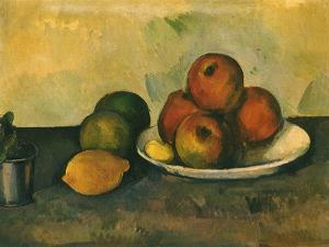 Study of Apples, Lemon, 1890 by Paul C?zanne