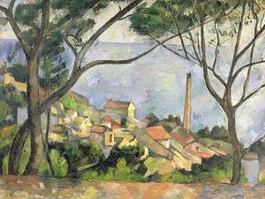 The Sea at L'Estaque, 1878 by Paul C?zanne