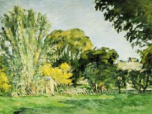 Trees at Jas de Bouffan by Paul C?zanne