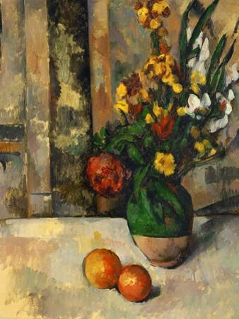 Vase and Apples by Paul C?zanne