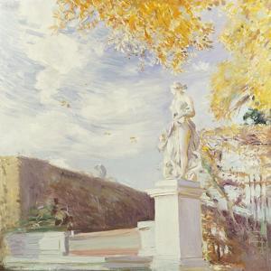 A Statue of Venus in the Garden of Versailles, 1896 by Paul Cesar Helleu