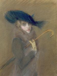 Elegant Lady by Paul Cesar Helleu