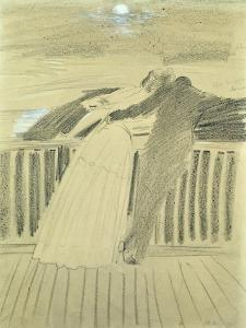 Jeanne Hugo and Jean Charcot at Hauteville House, Guernsey by Paul Cesar Helleu