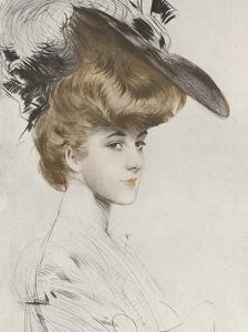 Le Chapeau Noir by Paul Cesar Helleu