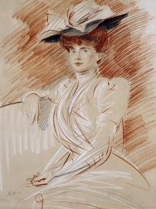 Madame Helleu Au Chapeau by Paul Cesar Helleu