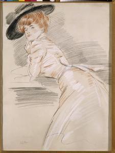 Madame Helleu in a Hat by Paul Cesar Helleu