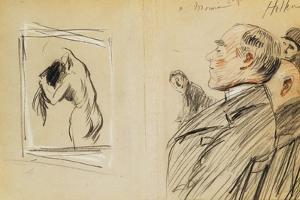 Monsieur Fiquet Admiring a Pastel by Degas by Paul Cesar Helleu