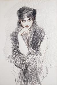 Portrait of a Lady, Possibly Madam Van Cleef (Nee Lopez Penna Hebe) by Paul Cesar Helleu