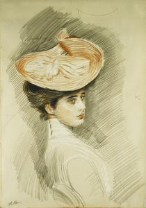 Portrait of a Lady, thought to be Madame Helleu by Paul Cesar Helleu