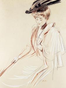 Portrait of a Lady by Paul Cesar Helleu
