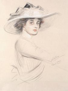 Portrait of a Woman, 1909 by Paul Cesar Helleu