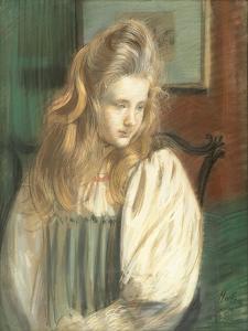 Portrait of Jessie Margery Dunthorne by Paul Cesar Helleu