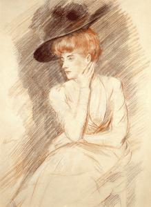 The Black Hat II by Paul Cesar Helleu