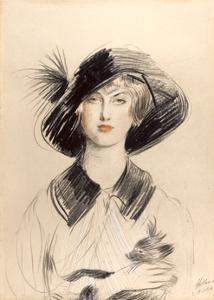 The Black Hat by Paul Cesar Helleu