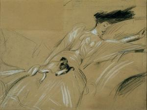 The Duchess of Marlborough Dozing Off at Blenheim Palace by Paul Cesar Helleu