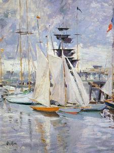 The Harbour, Deauville, Normandy, 1912 by Paul Cesar Helleu