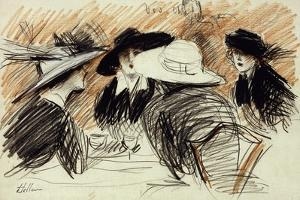 Vos Chapeux: Ladies at the Ritz, New York, 1913 by Paul Cesar Helleu