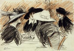 Vos Chapeux: Ladies at the Ritz, New York by Paul Cesar Helleu