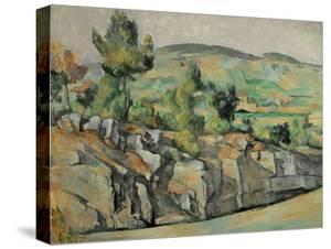 Aix En Provence, Rocky Countryside by Paul Cézanne