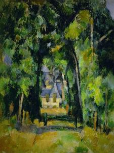 Allee a Chantilly-Avenue at Chantilly, 1888 Canvas, 75 x 63 cm. by PAUL CEZANNE