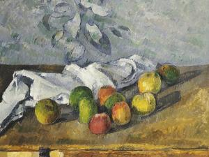 Apples and a Napkin by Paul Cézanne