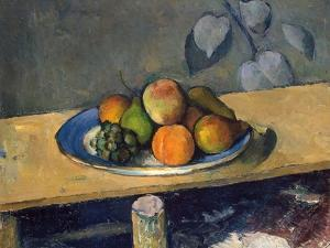 Apples, Pears and Grapes, 1879-1880 by Paul Cézanne