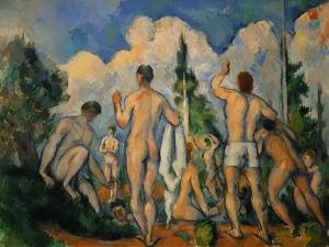 Baigneurs (the bathers). Oil on canvas (1890-1892) 60 x 82 cm R. F. 1965-3. by PAUL CEZANNE
