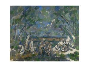 Baigneuses (Bathers) Oil on canvas, 1902-1906 73.5 x 92.5 cm . by PAUL CEZANNE