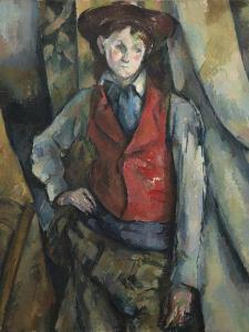 Boy in a Red Waistcoat, 1888-90 by Paul Cezanne