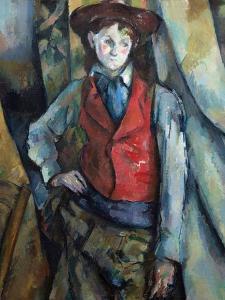 Boy in a Red Waistcoat by Paul Cézanne
