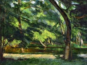 Cezanne: Etang, 1877 by Paul Cézanne