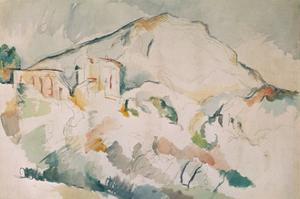 Cezanne painted this mountain, near Aix-en-Provence, more than twenty times. Watercolour. by PAUL CEZANNE