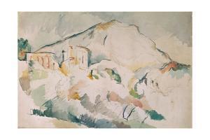 Cezanne painted this mountain, near Aix-en-Provence, more than twenty times. Watercolour. by PAUL CEZANNE