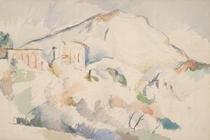 Château Noir and Mont Sainte-Victoire, Ca 1890-1895 by Paul Cézanne
