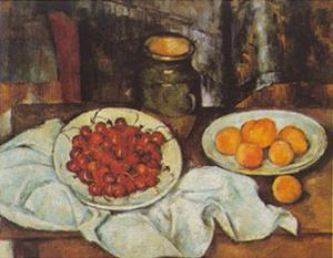 Cherries And Peaches by Paul Cézanne