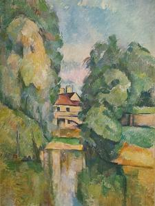 'Country House by a River', c1890 by Paul Cezanne