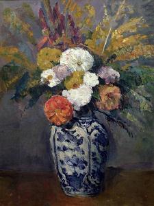 Dahlias, circa 1873 by Paul Cézanne