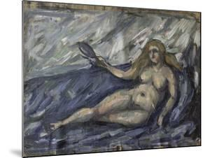 Femme nue au miroir by Paul Cézanne