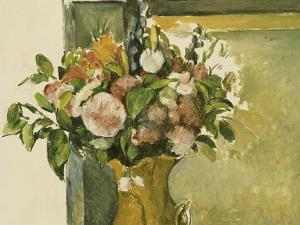 Flowers in a Vase by Paul Cézanne